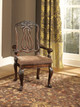 Raliegh Set of 2 Arm Chairs Cherry single chair in room