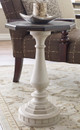 Westport Weathered White Farmhouse Side Table Room