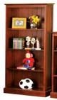 "Fordham Dark Pecan 60"" 4 Shelf Kids Bookcase"
