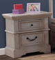 Brylee 2 Drawer Night Stand Antique Gray lifestyle
