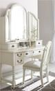 Sierra Distressed Gray Vanity Chair