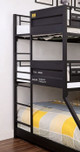 Big Mac Metal Triple Bunk Bed long ladder detail