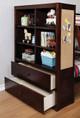 Roxbury Walnut Bunk Beds with Storage bed end detail