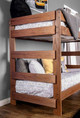 Woodlands Brown Cherry Bunk Beds twin end detail