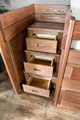 Woodlands Brown Cherry Loft Bed with Storage stair drawer detail