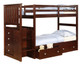 Weatherford Twin over Twin Stairway Bunk Bed