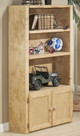 Gracie Natural Bookshelf with Doors Room