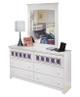 Pippa 6 Drawer Dresser White