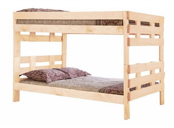 Jericho Unfinished Extra Long Wooden Bunk Beds