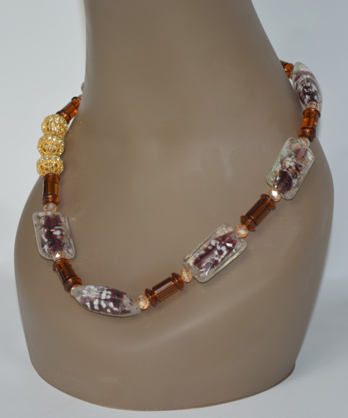 Coffee Necklace - Champagne & Gold