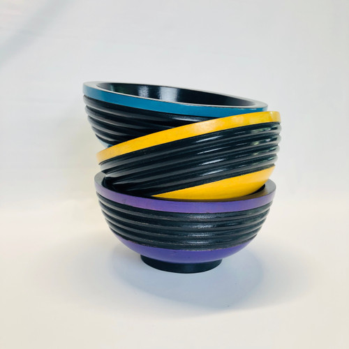 Dark Stripes Bowl