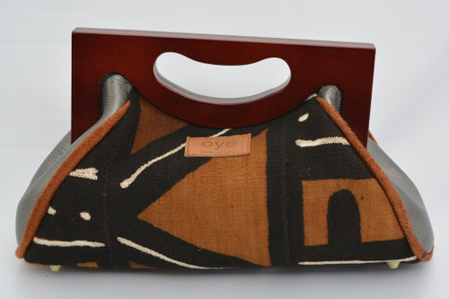 Awo Mudcloth - Range with Grey Leather