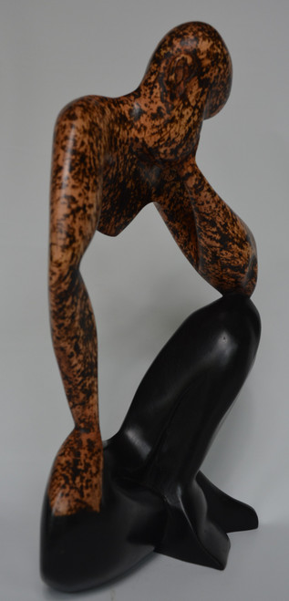 Thoughtful Man - Mahogany Wood statue