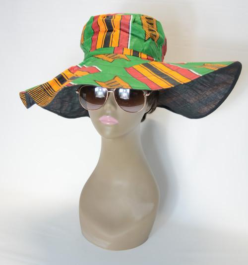 African Print Sun Hat 1