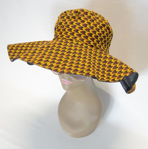 African Print Sun Hat 2