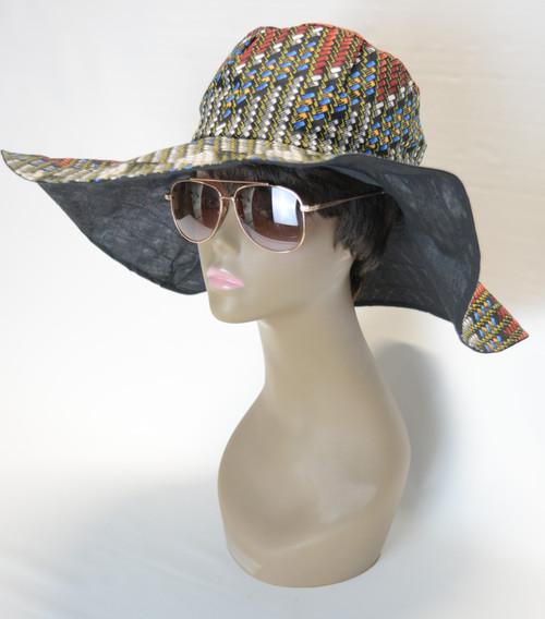 African Print Sun Hat 3