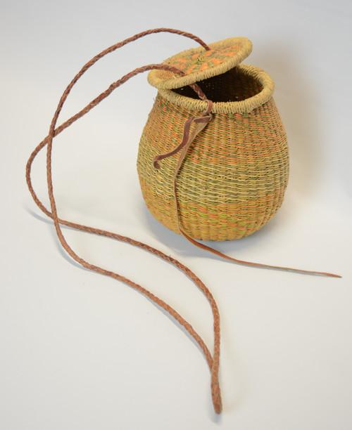 Flex Pot Handbag - Tan, Orange, Light Green