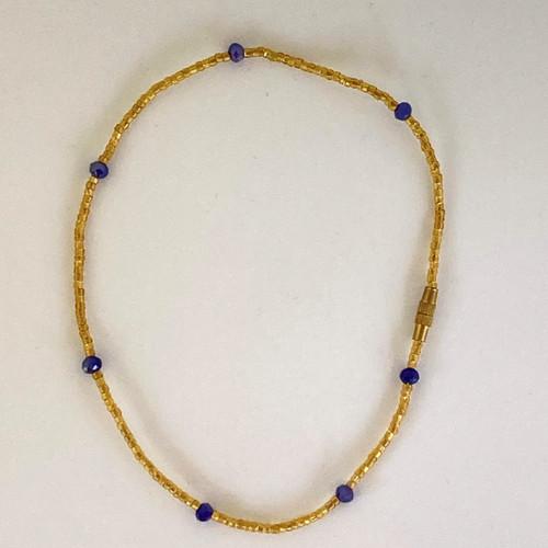 Blueberry Gold Anklet
