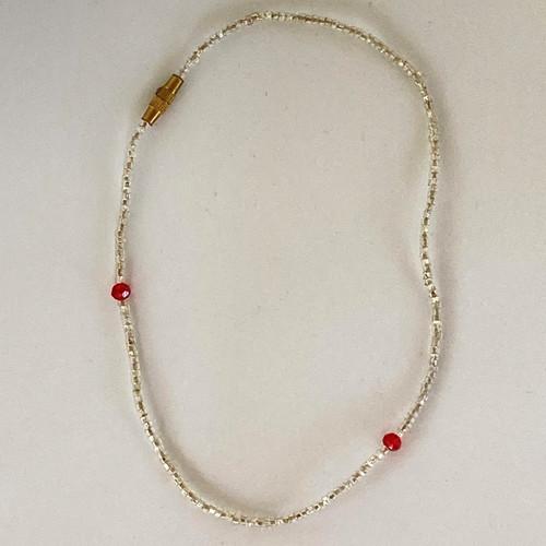 Pomegranite Pearl Anklet