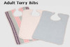 White Adult Terry Bib | 24 per case
