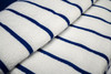 Close Up of  Beach Towel | 30x60 | Navy Stripe