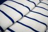 Close Up of  Beach Towel | 30x60 | Navy Stripe