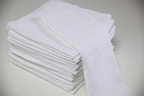 16x16 White Microfiber Waffle Towels Bulk Towels