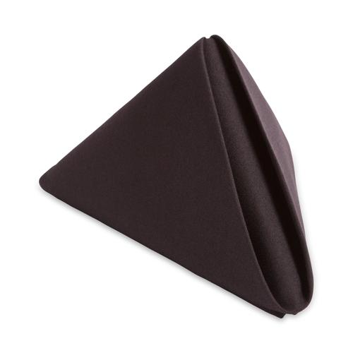 20x20 Black Spun Polyester Napkin - 50 per case