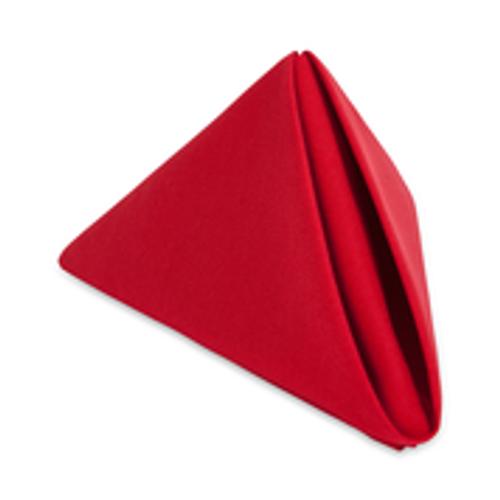 20x20 Red Spun Polyester Napkin   100 per case
