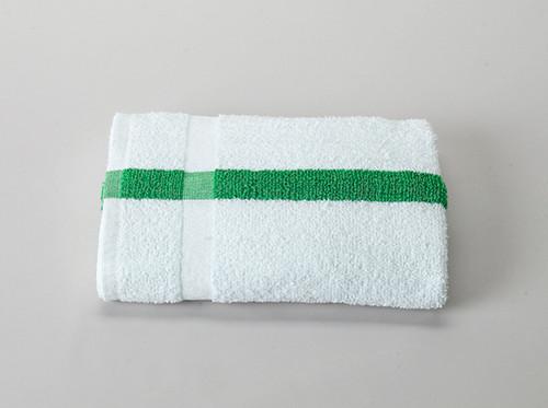 Green Stripe Economy Bath Towel | 60 per case