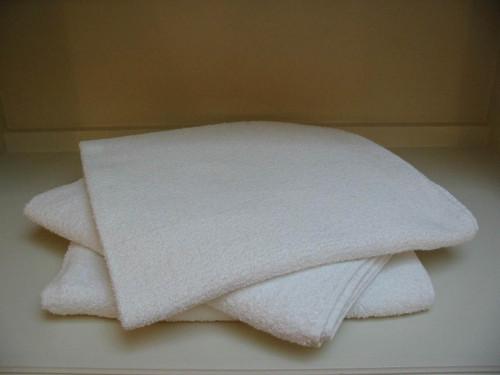 30x60 White Beach Towel - Medium Weight