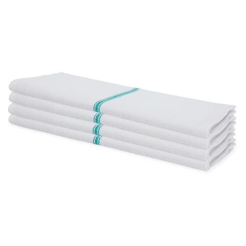 Premium Low Lint Green Stripe Herringbone Towel - 100 Per Case
