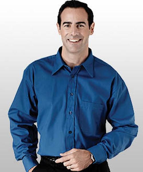 661b0877ccec6 Men s Point Collar Poplin Long Sleeve Waiter Shirt