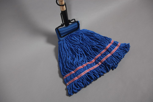 Blue Microfiber Looped End Wet Mop - 12 per case