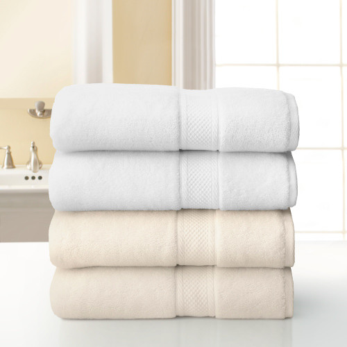 Grand Patrician Bath Towel - White