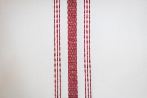 18 x 22 Burgundy Bistro Stripe Napkin - 144 napkins