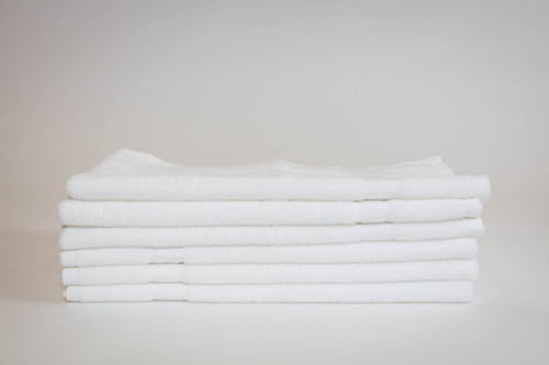 16 x 30 White Peerless 2 ply Combed Cotton Hand Towel - New Item!