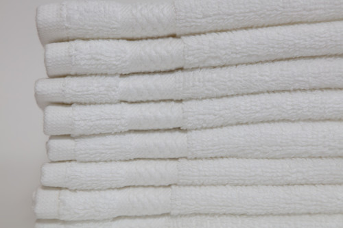 13 x 13 White Peerless 2 ply Combed Cotton Wash Cloth - New Item!