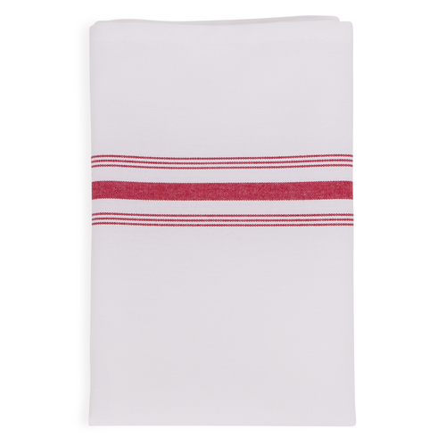 18 x 22 Red Stripe Bistro Napkin - 50 per case