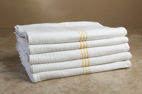 All Purpose Cleaning Towels Gold Pinstripe Ribbed | 100 per case