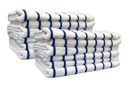 Oversized Beach Towel | 35x70 | Navy Stripe