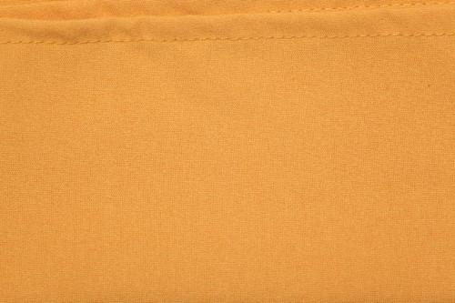 "120"" Round Gold Spun Polyester Tablecloth"