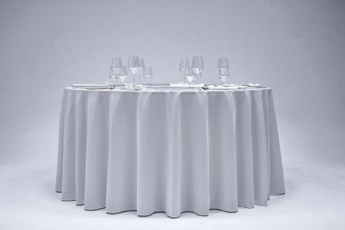 "120"" Round Spun Polyester Tablecloth 