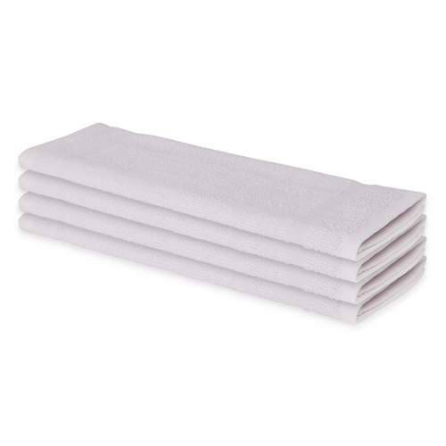 12x12 White Economy Washcloths - 300 per case