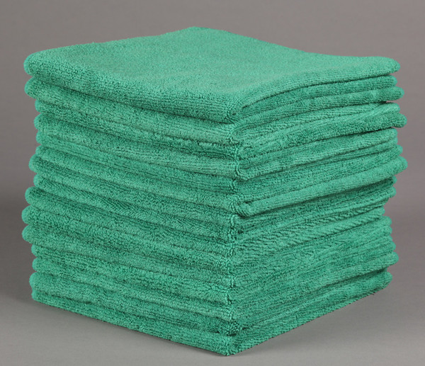 16x16 Green Microfiber Towels