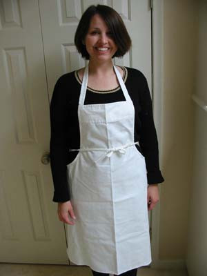 On Sale White Heavyweight Twill Kitchen Apron 36 Aprons