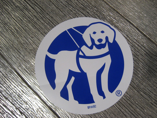 "9"" Circular Guide Dog of America Logo Decal"