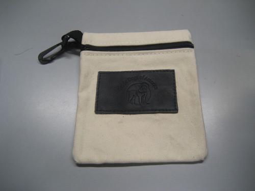 White Logo Pouch