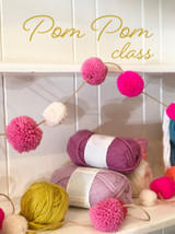 Pompom making class, after school crafting class