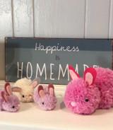 Pompom bunny crafting kit, small size